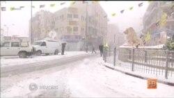 Ближний Восток засыпало снегом