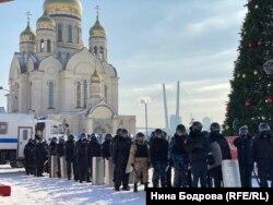 Протесты во Владивостоке 31 января