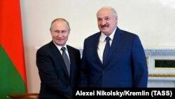 Путин и Лукашенко в июле 2021 года