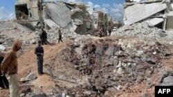 Руины города Азаз, Сирия. Апрель 2013 года.
