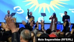 "Глава партии ""Грузинская мечта"" Бидзина Иванишвили на агитационном митинге"