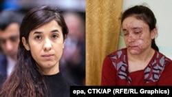 Надия Мурад (слева), Ламийя Аджи Башар (справа)