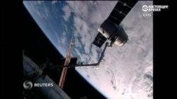 Грузовой космический корабль Dragon возвращает с орбиты научный груз
