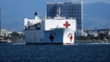 U.S. -- The USNS Mercy, a Navy hospital ship, departs the Naval Station San Diego and heads to the Port of Los Angeles to aid local medical facilities dealing with coronavirus disease (COVID-19) patients, in San Diego, California, March 23, 2020