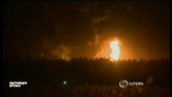 Под Киевом второй день горит нефтебаза