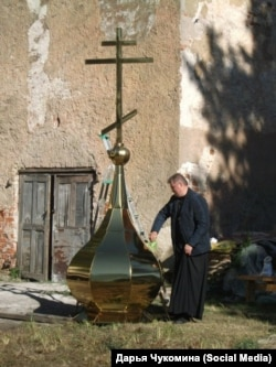 Священник доволен новым куполом