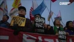 Сотни тысяч человек в Сеуле потребовали отставки президента Южной Кореи