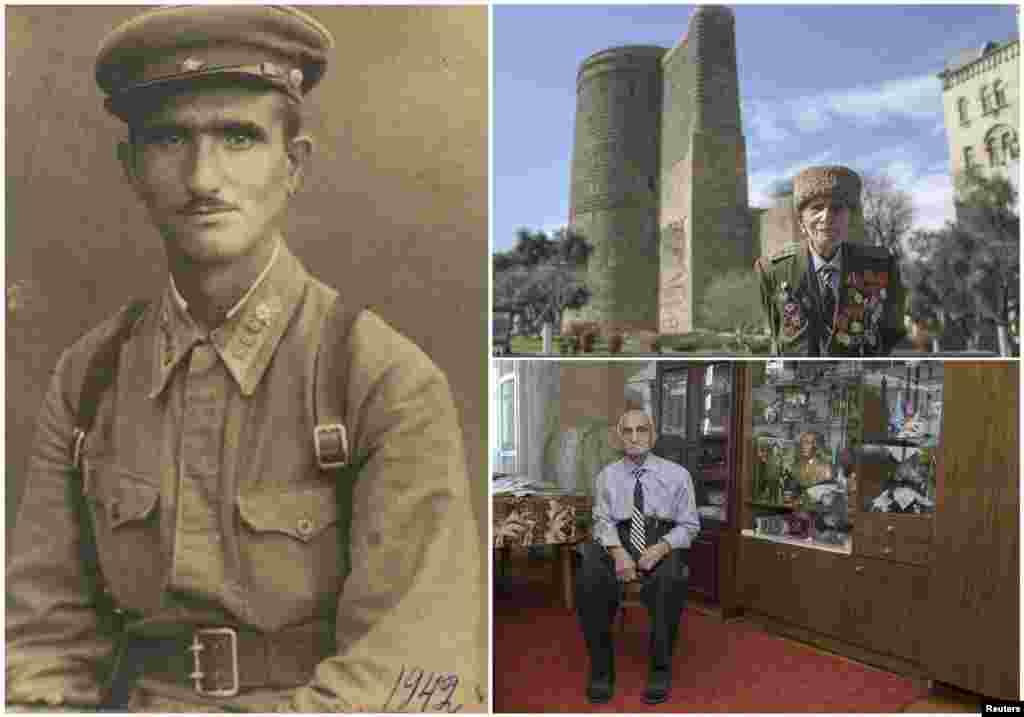 Аллахверди Алиев, 103. Азербайджанский офицер служил в кавалерии Красной Армии с ноября 1941 по 1944. Был ранен. Победу отпраздновал в госпитале Варшавы