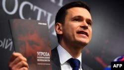Илья Яшин на презентации доклада о Рамзане Кадырове, 23 февраля 2016