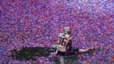 U.S. -- Brandon King of the New England Patriots sits in confetti on the pitch after winning Super Bowl LIII against the Los Angeles Rams at Mercedes-Benz Stadium in Atlanta, Georgia, February 3, 2019