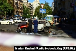 Полиция на месте взрыва
