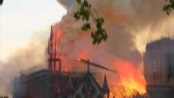 Пожар в Нотр-Даме: поминутный ход событий