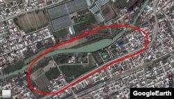 Место новой резиденции Мирзиёева на Google-картах.