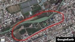 Место новой резиденции Мирзиеева на Google-картах