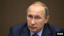 Путин на встрече с представителями Минобороны в Сочи 10 ноября 2015 года