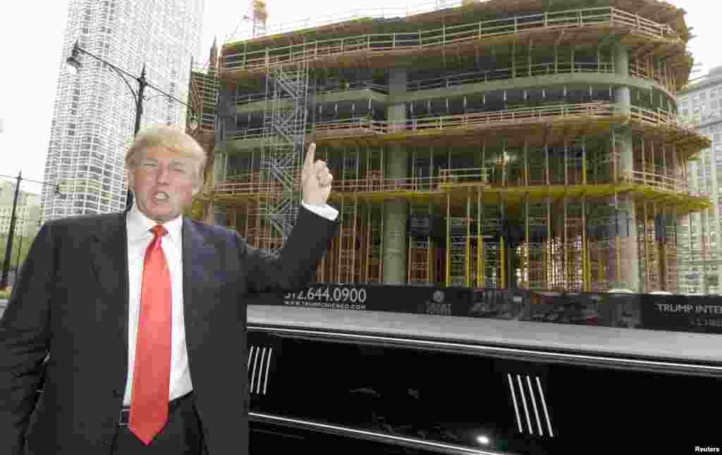 Строительство Международного отеля и башни Трампа в Чикаго, 2006 год