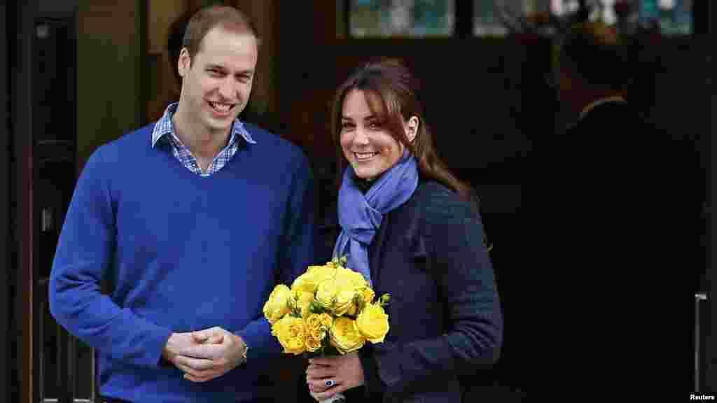 Герцогиня Кембриджская и Принц Уильям в 2012 году