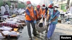 Жертвы давки в Мине, где проходил хадж мусульман в Мекку, 24 сентября 2015 года