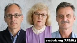 Detained Belarusian RFE/RL journalists Ales Dashchynski, Inesa Studzinskaya, and Aleh Hruzdzilovich