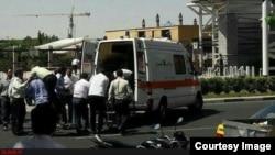 Раненые в результате нападения на парламент Ирана
