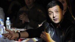 RUSSIA -- Ukrainain Actor and comedian Volodymyr Zelenskiy in Moscow, April 14, 2013