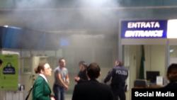 Пожар в аэропорту Фьюмичино, Рим