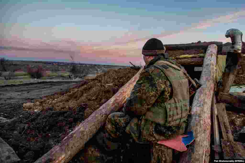 Позиции украинских военных вблизи Зайцева