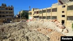 Разрушенная больница в Кафр Такхариме, Идлиб. Апрель 2017. Фото иллюстративное
