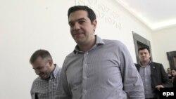 Премьер-министр Греции Алексис Ципрас в парламенте