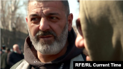 Armenian protester Armen Petrosian, a professional stuntman, says he has participated in all of the military conflicts over Nagorno Karabakh since the early 1990s.