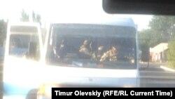 Автобус с пленными