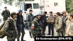 Военные из Нидерландов в Боснии в марте 1994 года