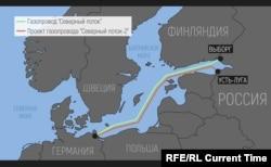 """Газопровод """"Северный поток-2"""" из РФ в Германию"""