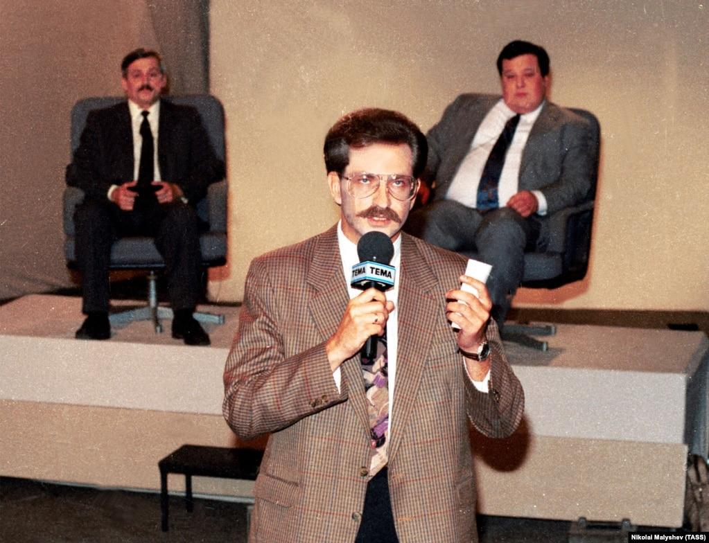 """Программа """"Тема"""". Обсуждается вопрос """"КПСС  ; за и против"""". 1992 год. Фото: ТАСС"""