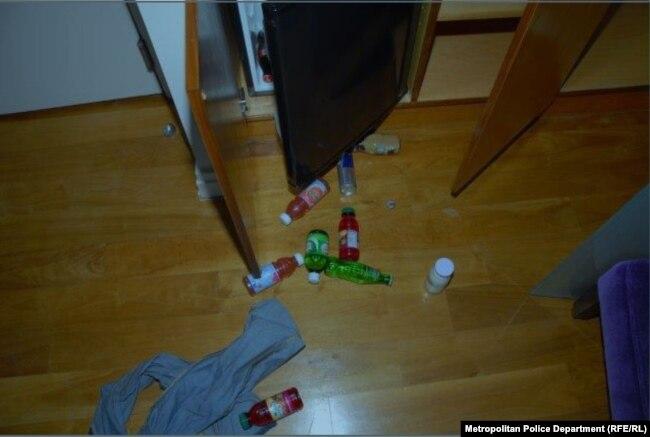 Фото номера гостиницы, где было обнаружено тело Лесина. Представлено полицией Вашингтона