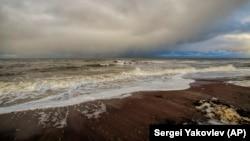 Побережье Белого моря у Нёноксы, 7 октября 2018