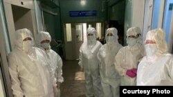 Работники Республиканской клинической больницы имени Куватова в Уфе