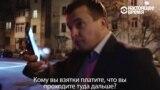 Украинский министр убегает от журналистов: мастер-класс