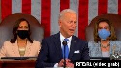 Джо Байден обращается к Конгрессу, 28 апреля 2021 года