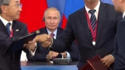 Путин предложил Абэ заключить мирный договор между двумя странами