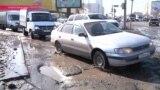 Весенние дороги в Астане: яма на яме