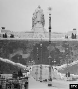 Монумент Сталина в Праге, 1955 год