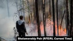 Пожары на острове Ольхон