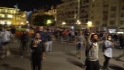 В Белграде протестовали против комендантского часа