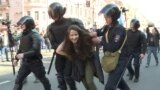Russian Police Break Up Opposition May Day March In St. Petersburg video grab 1