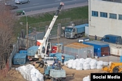 Работы в зоне строительства участка Юго-Восточной хорды 28 апреля 2020 года