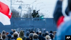 Акция протеста в Минске, 25 октября 2020 года