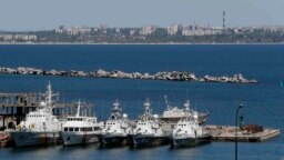 Ukraine -- Ukrainian Coast Guard vessels are docked in the Black Sea port of Odessa, May 7, 2014