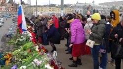"""""""Минута немолчания"""" в память о Борисе Немцове"""