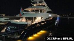 """Яхта """"Sedation A"""", формально принадлежащая SOCAR, фото OCCRP"""